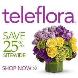 25% off teleflora flowers